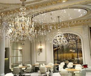 beautiful, chandelier, and gorgeous image