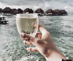 beach, drink, and drinks image