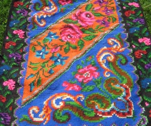 etsy, bessarabian kilim, and floral carpet image