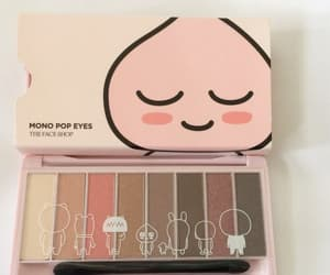 makeup, aesthetic, and peach image
