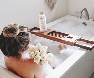 bath, girl, and hair image
