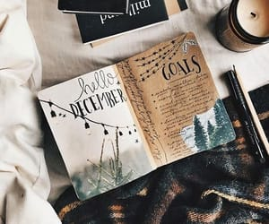 december, book, and journal image