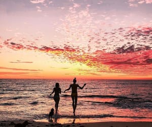 friendship, summer, and sunset image