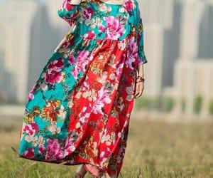maxi dress, maternity dress, and bohemian style dress image