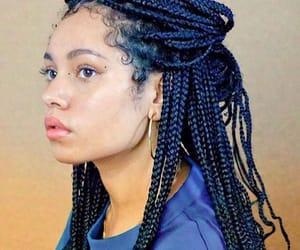 black girl, braids, and mixed girl image