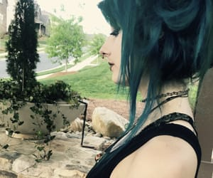 alternative, green hair, and scene hair image