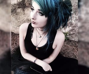 alternative, emo, and green hair image