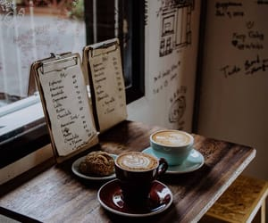cafe, coffee shop, and morning image