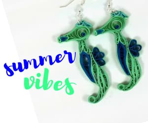summer vibes, summer jewelry, and summer earrings image
