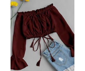 burgundy, top, and summer image
