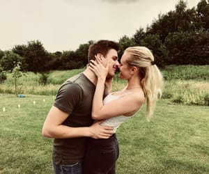 blonde hair, boyfriend, and couple image