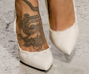 tattoo, heels, and fashion image