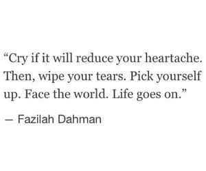 cry, heartache, and quotes image