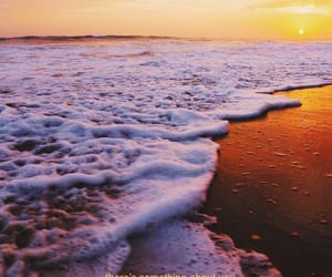 beach, quotes, and sunset image
