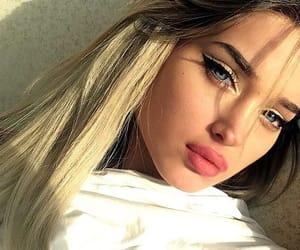 girl, beauty, and eyes image