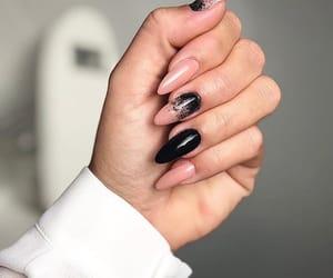 black, hands, and nail art image