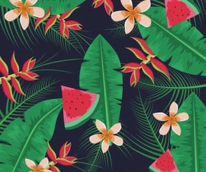 background, leaves, and tropical image