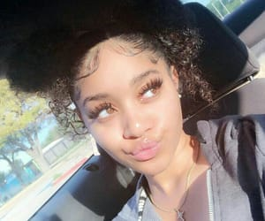 curly hair, edges, and lashes image
