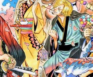 manga, sanji, and ñami image