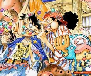 manga, one piece, and luffy image