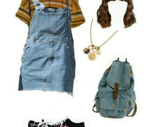 jean, overalls, and Polyvore image