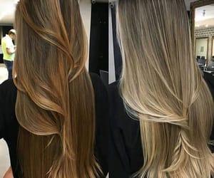girls, balayage, and hair image