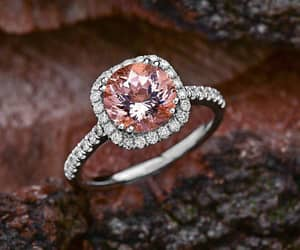 etsy, morganite rose gold, and morganite image