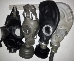 aesthetic, alternative, and gas mask image