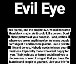 evil eye, jealousy, and real talk image