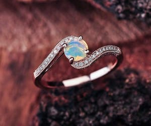etsy, rose gold engagement, and opal image