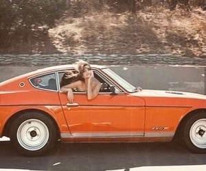car, vintage, and orange image