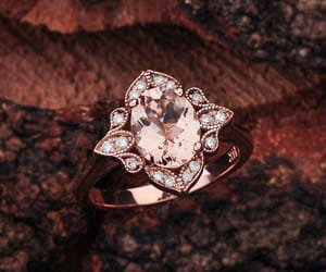 etsy, rose gold engagement, and morganite image