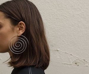 fashion, earrings, and hair image