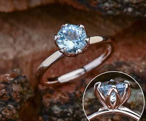 engagement ring, etsy, and rose gold engagement image