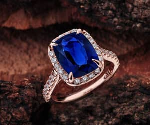 etsy, blue sapphire, and rose gold engagement image