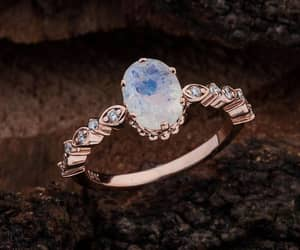 etsy, opal, and moonstone ring image