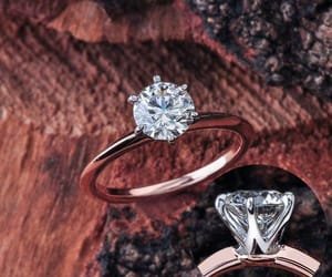 etsy, rose gold engagement, and moissanite solitaire image