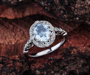 etsy, engagement rings, and halo engagement ring image