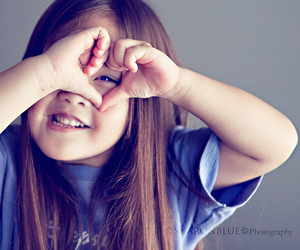 cute, heart, and child image