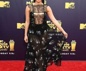 black dress, mtv awards, and fashion icon image