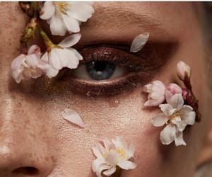 beauty, flowers, and freckles image