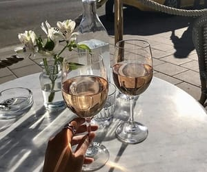 drinks, wine, and summer image