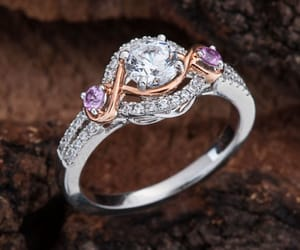 etsy, rose gold engagement, and round cut moissanite image