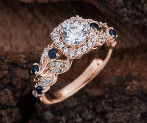 etsy, engagement ring, and moissanite ring image