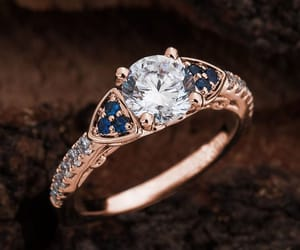 etsy, rose gold engagement, and engagement ring image