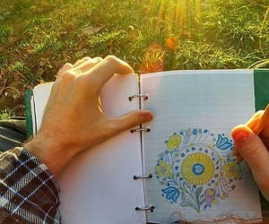 drawing, hippie, and sun image