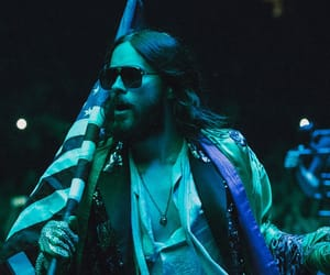 30 seconds to mars, nyc, and flag image