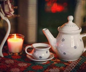 decor, room, and tea set image