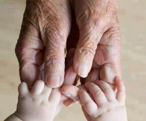 baby, hands, and old image