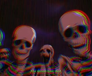 skeleton, aesthetic, and quotes image